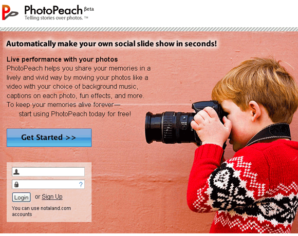 photopeach   PhotoPeach: Create Cool Slideshows With Music Online