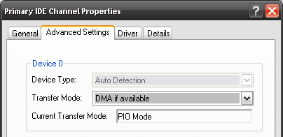Check Your IDE Transfer Mode To Make Your PC Faster pio mode on primary ide