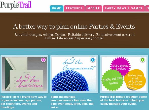 purpletrail1   PurpleTrail: Plan & Organize Events Online