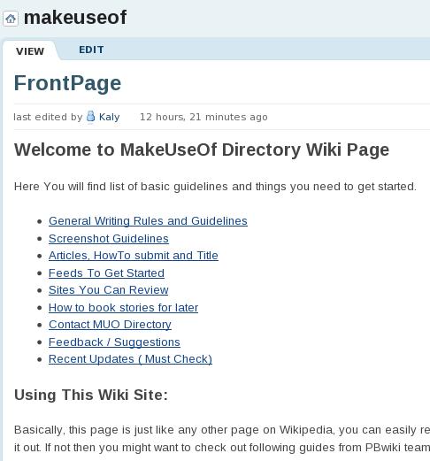 wiki style editor