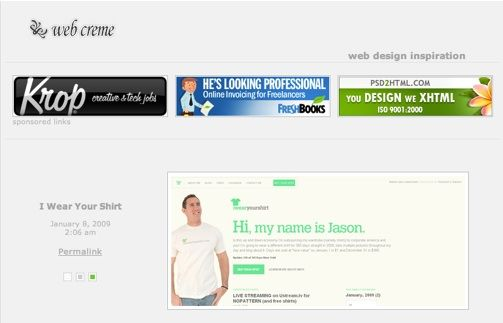 web creme - web design inspiration ideas