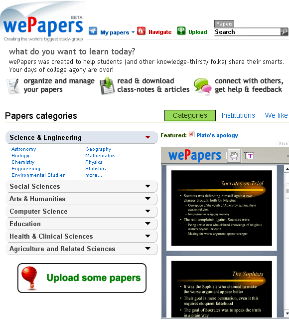 student paper database