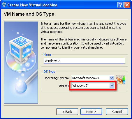 Installing windows 7 virtual machine on virtualbox.