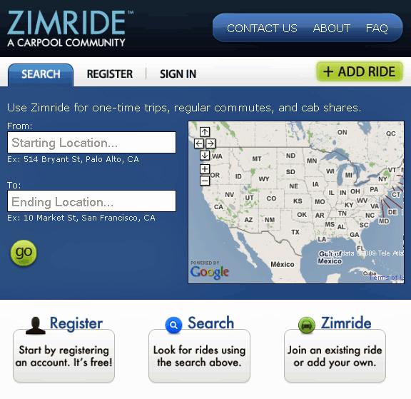 zimride   ZimRide: Carpooling Website To Find & Share Rides