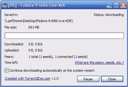 Download Torrents Without A Client Via Torrent2Exe [Windows] 02 downloading torrent