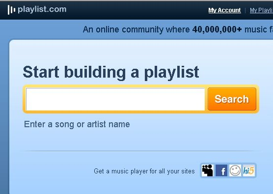 build music playlists online