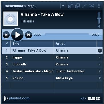 playlists sharing