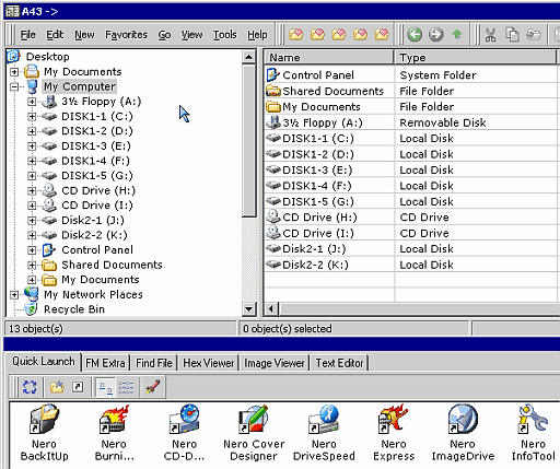 A43 - free windows explorer software