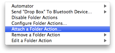 Establish File-Sharing & Notifications Between Networked Macs attach folder action
