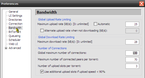 10 Ways to Speed Up Torrent Downloads bandwidth