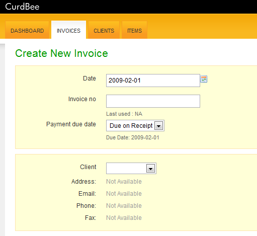 invoicing web application