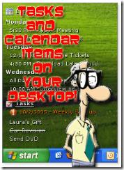 Show Your Outlook Calendar On Desktop with Desktask