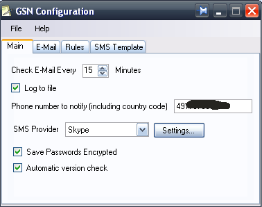 email sms notifier