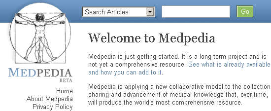 online encyclopedia of medicine