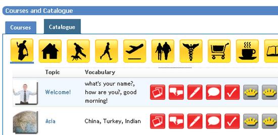 interactive language course