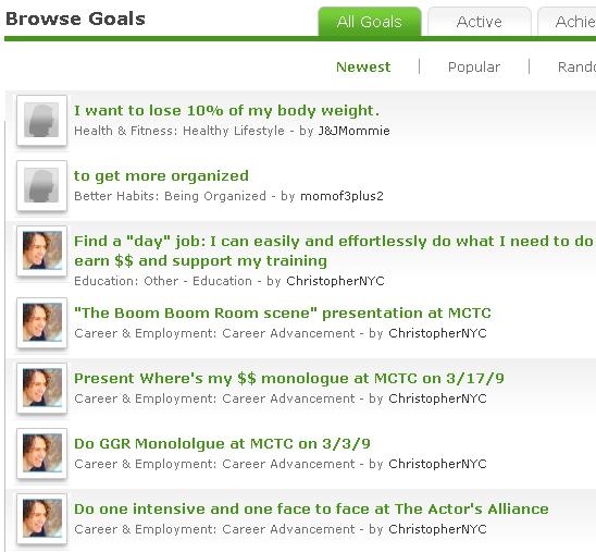 setting achieving goals