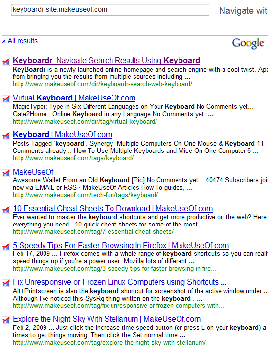 "Get ""Real Time"" Google Results With Keyboardr keyboardr"