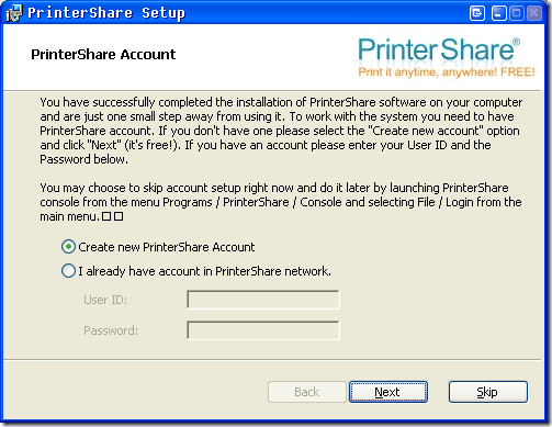 remote printing over internet