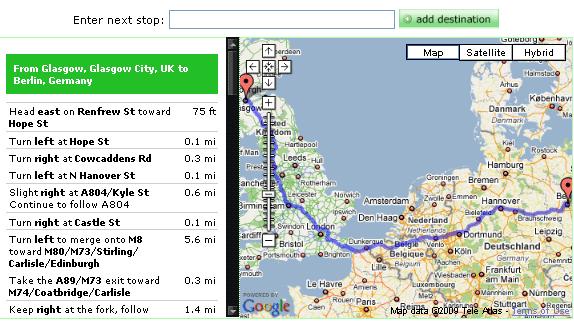 mileage calculation between cities