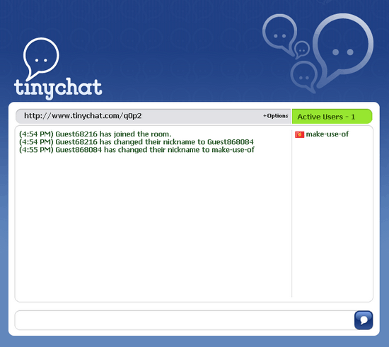 TinyChat: Online Chat Rooms Without Registering