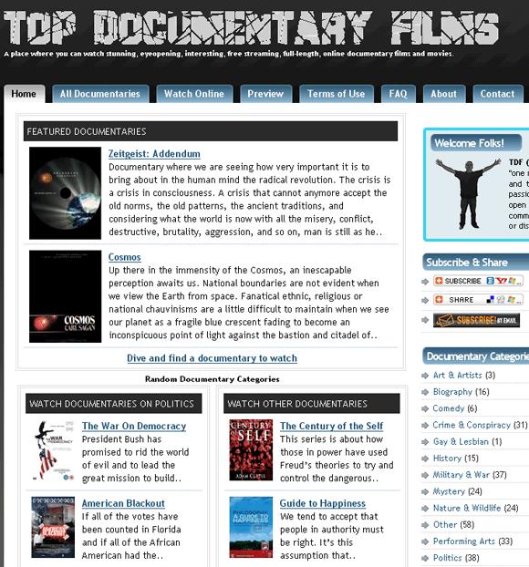 cool documentaries
