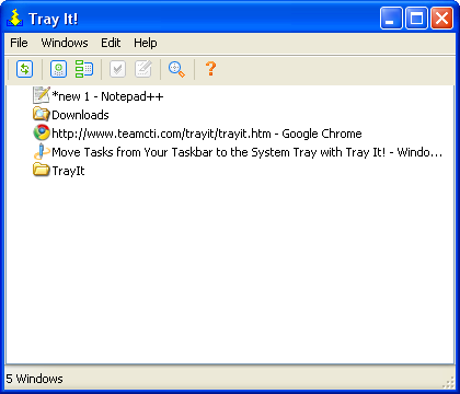 Minimize Programs to System Tray with TrayIt!