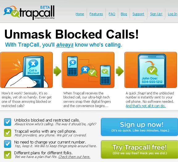 view blocked caller id