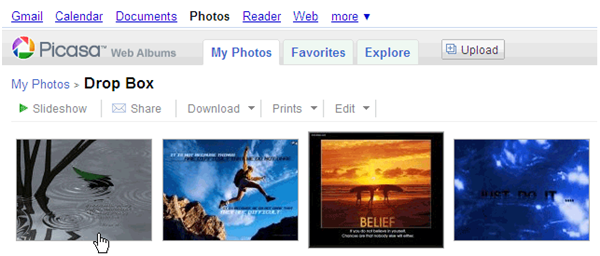 Send Your Photos To Your Picasa Web Album With An Email web album1b