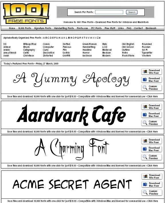 1001freefonts1   1001FreeFonts: Free Quality Fonts For Windows & Mac