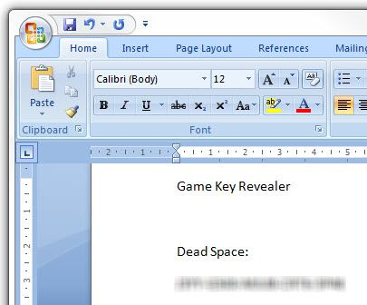 How To Recover Your Lost Video Game Keys (Windows) 25 03 2009 20 04 11