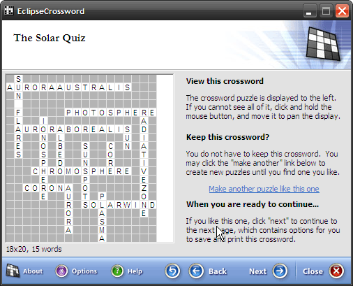 Design Your Own Crossword Puzzles (Windows) 6 crossword preview