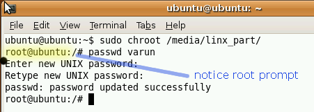 How To Reset Any Linux Password chroot