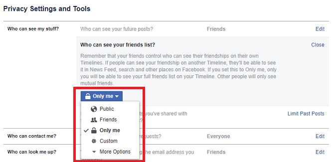 "How to ""Friend"" Someone on Facebook & Hide It From Your Status Updates facebook settings privacy friends 670x325"