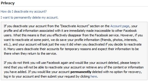Find out how to delete your Facebook account.
