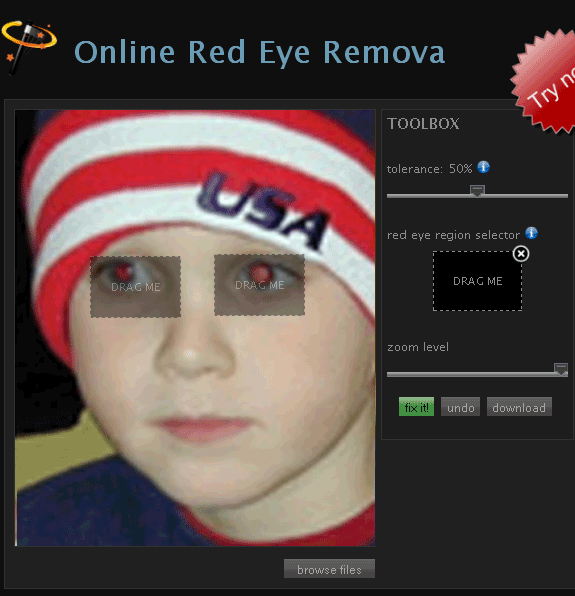 online red eye removal