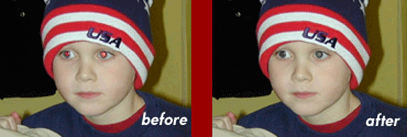 online red eye removal tool