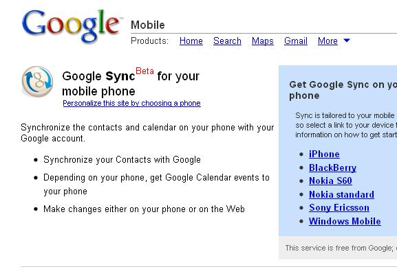 sync mobile calendar
