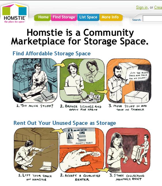 renting storage space