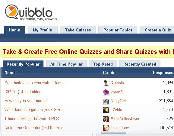 take fun quizzes and surveys