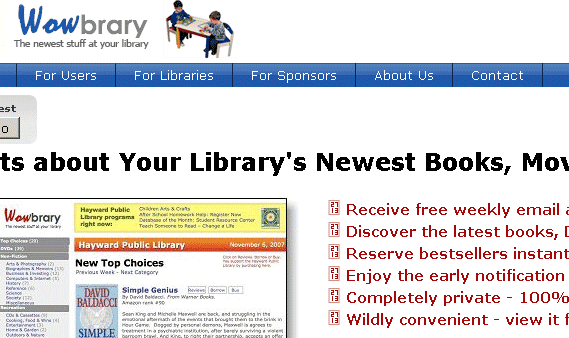 image129   Wowbrary: Get Alerts on New Book Arrivals From Your Library