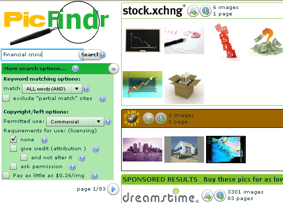 stock photography search engine