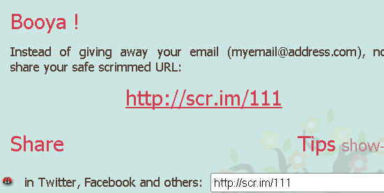 protect email address from spammers