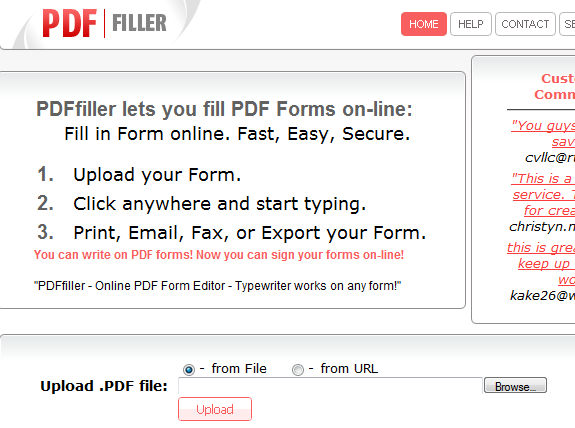 PDFfiller: Fill In PDF Form Online (Not Free)