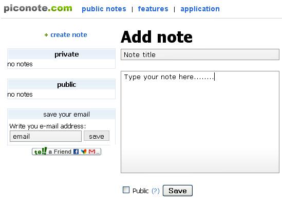 piconote   PicoNote: Offline & Online Note Taking Program