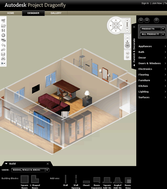ProjectDragonfly Design 3D Floor Plans Online