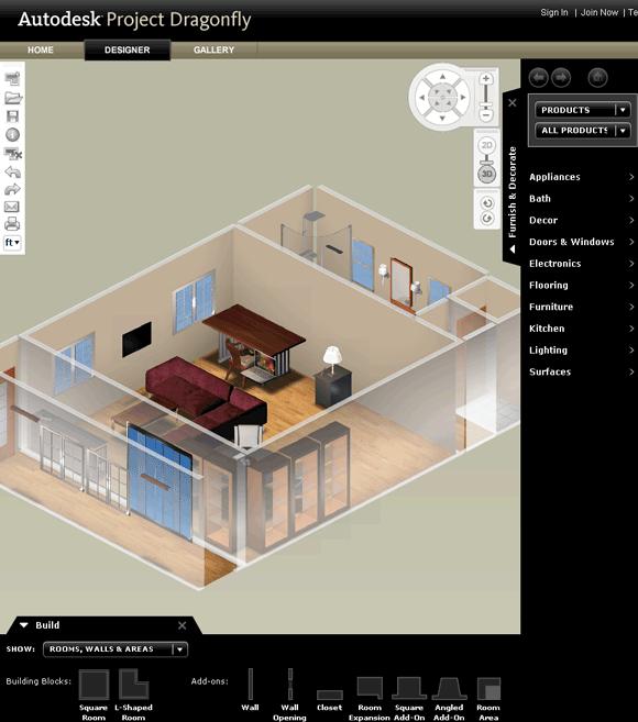projectdragonfly1   ProjectDragonfly: Design 3D Floor Plans Online