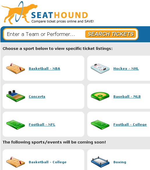 tickets for sport events