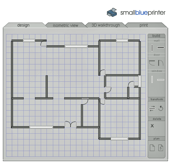 smallblueprinter   SmallBluePrinter: House Plan Creator