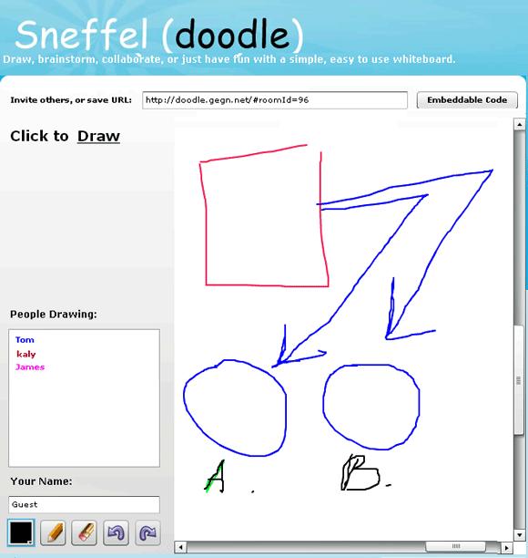 sneffel   Doodle: Instant & Easy Whiteboard App