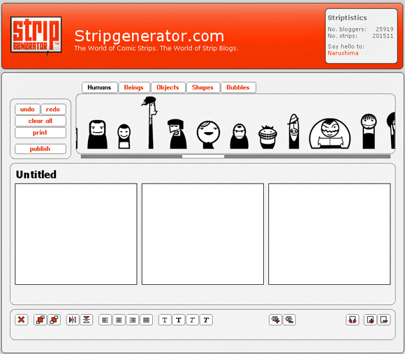 online comic strip creator